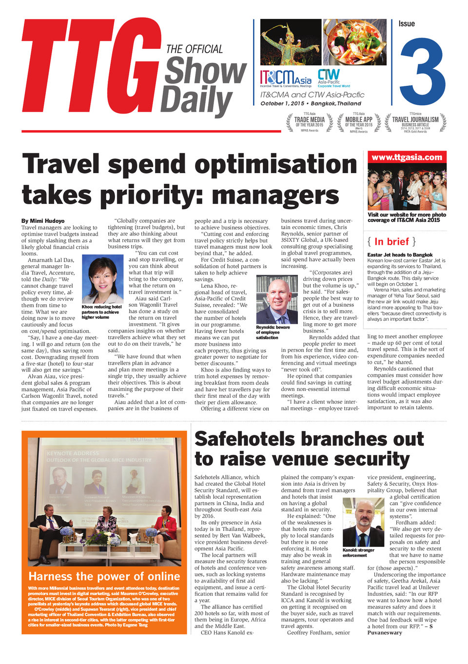 IT&CMA and CTW Asia-Pacific 2015 Day 3 - Digital Edition